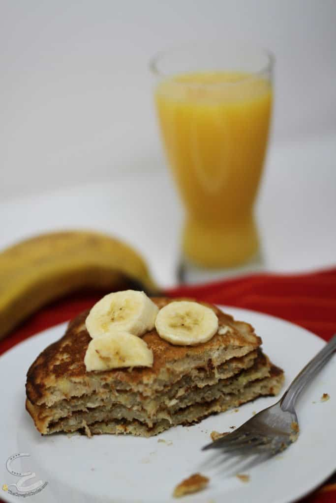 Gluten free Banana Pancakes on a plate