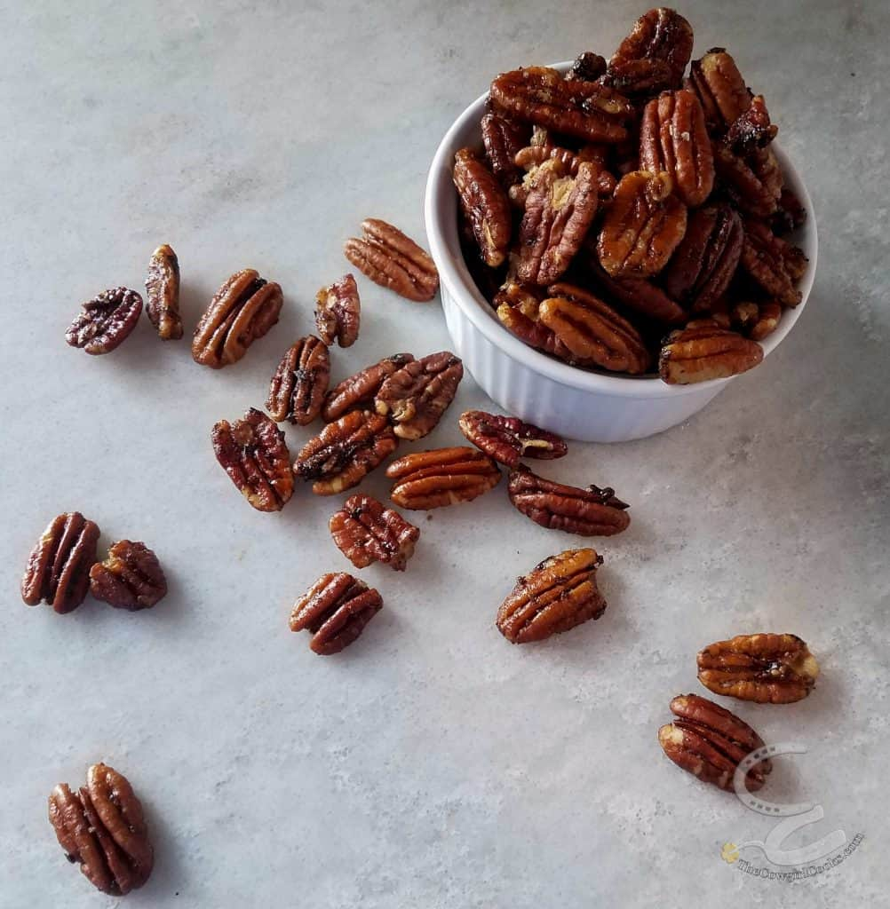 Sweet and Spicy mixed nuts made with pecan